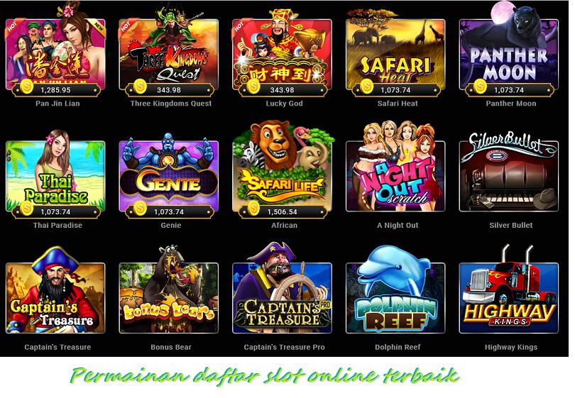 Permainan daftar slot online terbaik